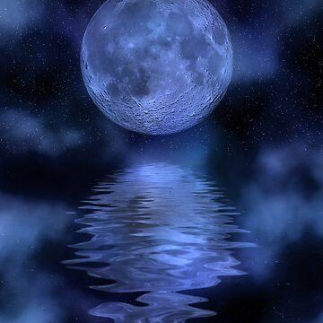 Blue moon by Kallbo