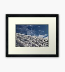 snow-white  against clear blue sky Framed Print