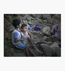 Cain and Abel (Sons of Adam and Eve) Photographic Print
