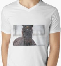 Horse in Snowstorm T-Shirt
