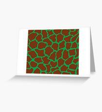 Green Pigment in Giraffe Pattern  Greeting Card