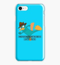 Perry The Platypus Scientific Name iPhone Case/Skin