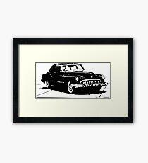 50s Retro Car Design  Framed Print