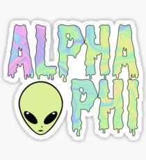 a trippy alien phi drippy Sticker