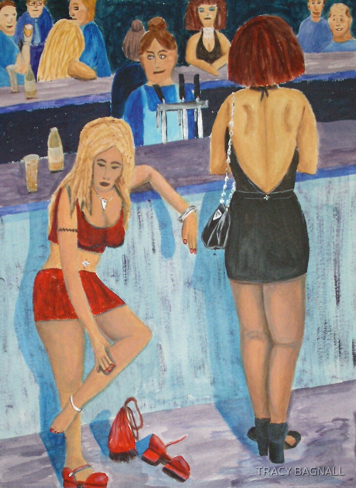 girls at bar by TRACY BAGNALL