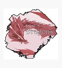 Friend of Dragons - Red Photographic Print