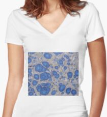 Underwater love Marbled Paper Women's Fitted V-Neck T-Shirt