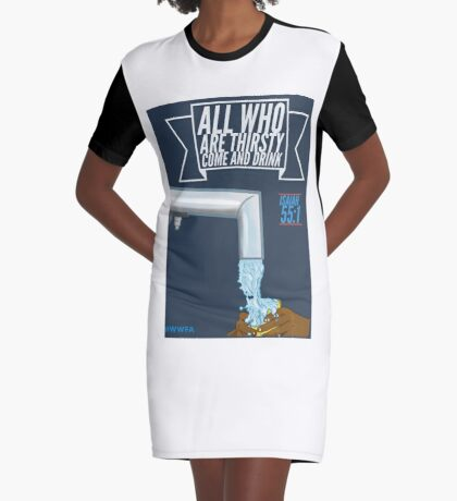 Come and Drink Graphic T-Shirt Dress