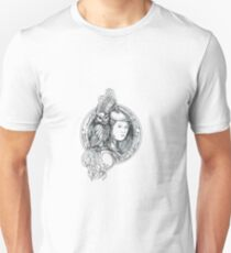 Athena with Owl on Shoulder Electronic Circuit Circle Tattoo T-Shirt
