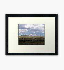 Clouds on the Plains Framed Print