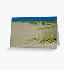 The Path To The Sea Greeting Card