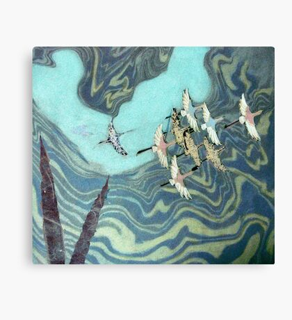 And the Crane's Flew to the Western World Canvas Print