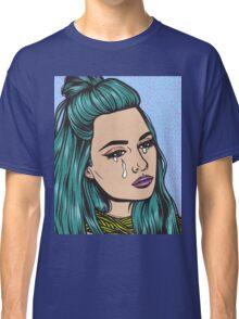 Teal Tears - Crying Comic Pop Art Girl Classic T-Shirt