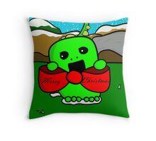 The Christmas Dinosaur Throw Pillow