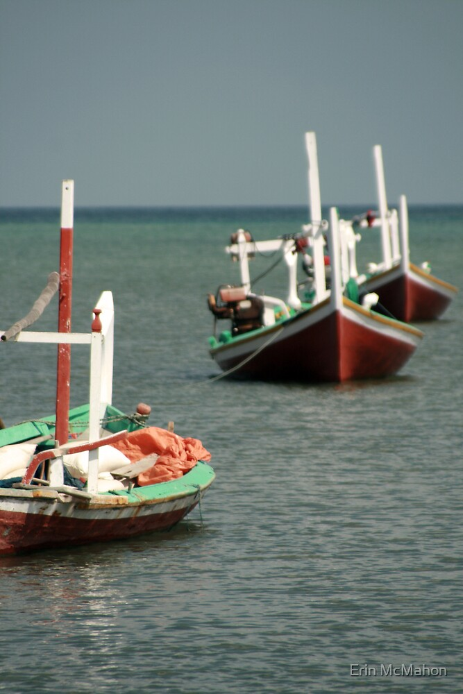Fishing Boats - Bawean - Indonesia by Erin McMahon