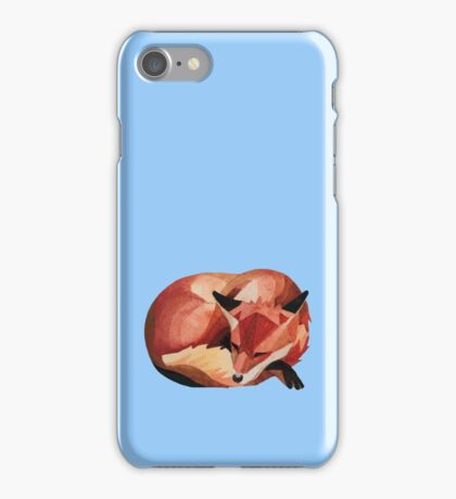 Napping Fox iPhone Case/Skin