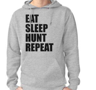 Eat Sleep Hunt Repeat Men's Hooded Sweatshirt OlIMQI