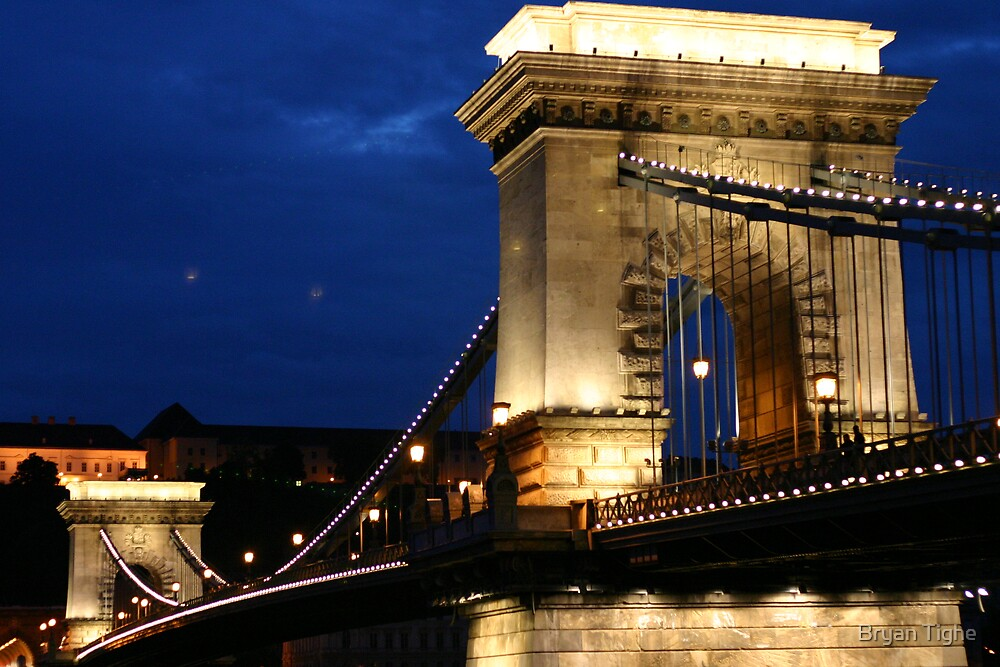 Chain Bridge, Budapest by Bryan Tighe