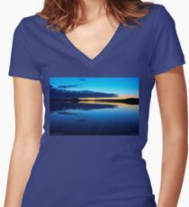 Magic Lapland Sweden . by Doctor Andrzej Goszcz. Women's Fitted V-Neck T-Shirt