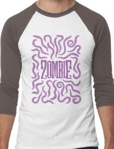 Zombie Logo (Purple Worms) Men's Baseball ¾ T-Shirt
