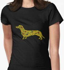 Art of Dachshund - Dachshund Lover Gold Womens Fitted T-Shirt