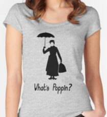 What's Poppin - Mary Poppins Women's Fitted Scoop T-Shirt