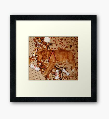 A VERY LONG PARTY :)))) Framed Print