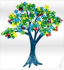 Blooming Tree- Autism Tee Shirts Poster
