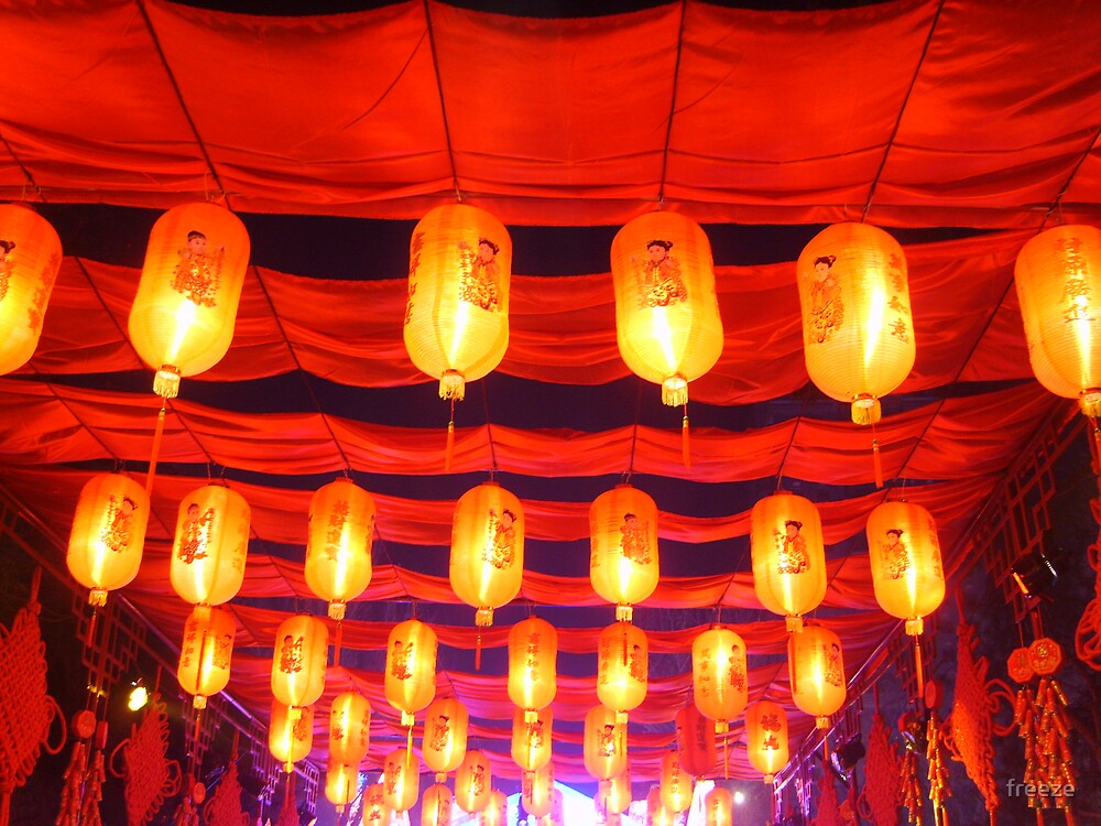 Hanging red lanterns.....大红灯笼高高挂。。。。 by freeze