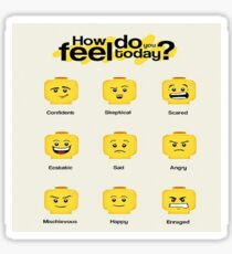Lego feelings Sticker