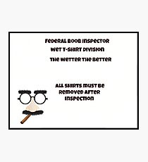 The inspector Photographic Print