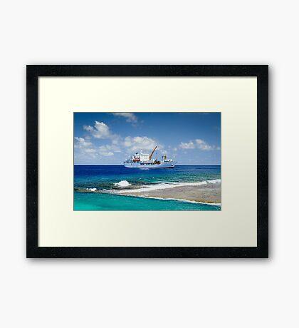Aranui 3 - Takapoto Island  Framed Print