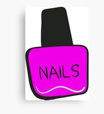 Pink Nail Polish Canvas Print
