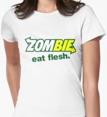 zombie eat flesh sub way Women's Fitted T-Shirt