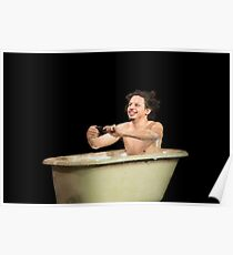 Eric Andre In A Bath Tub Poster