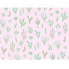 Abstrakter Kaktus-Druck-Rosa von agShop