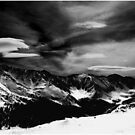 Cloud Form Monochrome Over the Continental Divide by Wayne King