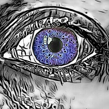"""""""Mysterious Mermaid Stare."""" (Violet) by PandemoniumPrya"""