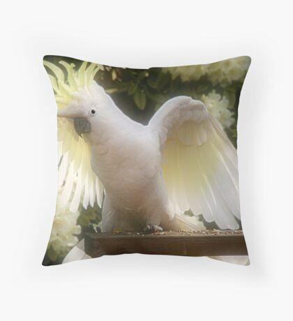 Golden cockatoo Throw Pillow