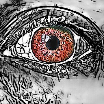"""Mysterious Mermaid Stare."" (Flame) by PandemoniumPrya"
