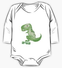T-Rex Rawr One Piece - Long Sleeve