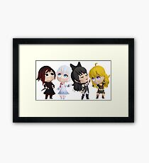 Chibi Team Rwby Framed Print