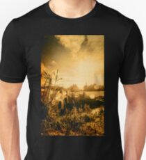 Country river crossing landscape Unisex T-Shirt