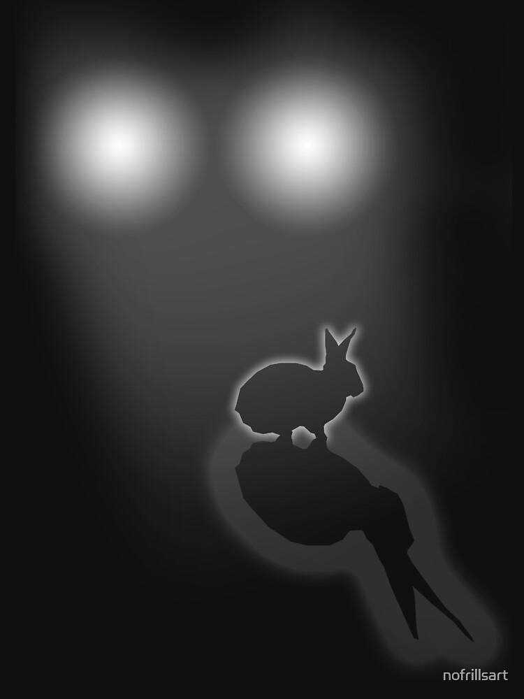 Rabbit in your headlights by nofrillsart