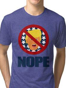 POTUS Donald J Trump NOPE Tri-blend T-Shirt