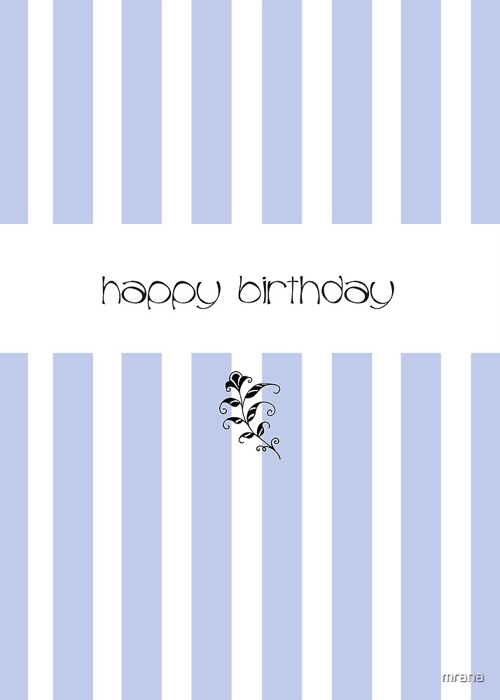 Blue Candy Stripes Birthday by Mariana Musa
