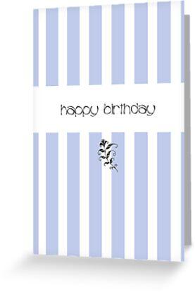 Blue Candy Stripes Birthday by Mariana Musa