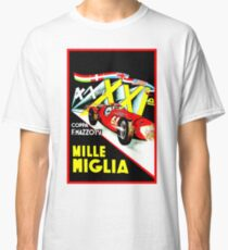 MILLE MIGLIA; Vintage Auto Racing Advertising Print Classic T-Shirt