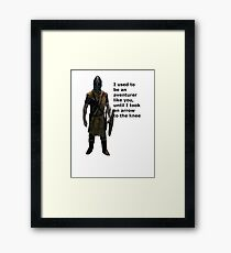 Whiterun Guard Quote Framed Print
