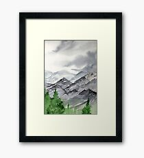 Mountain Landscape Painting over New Mexico Framed Print